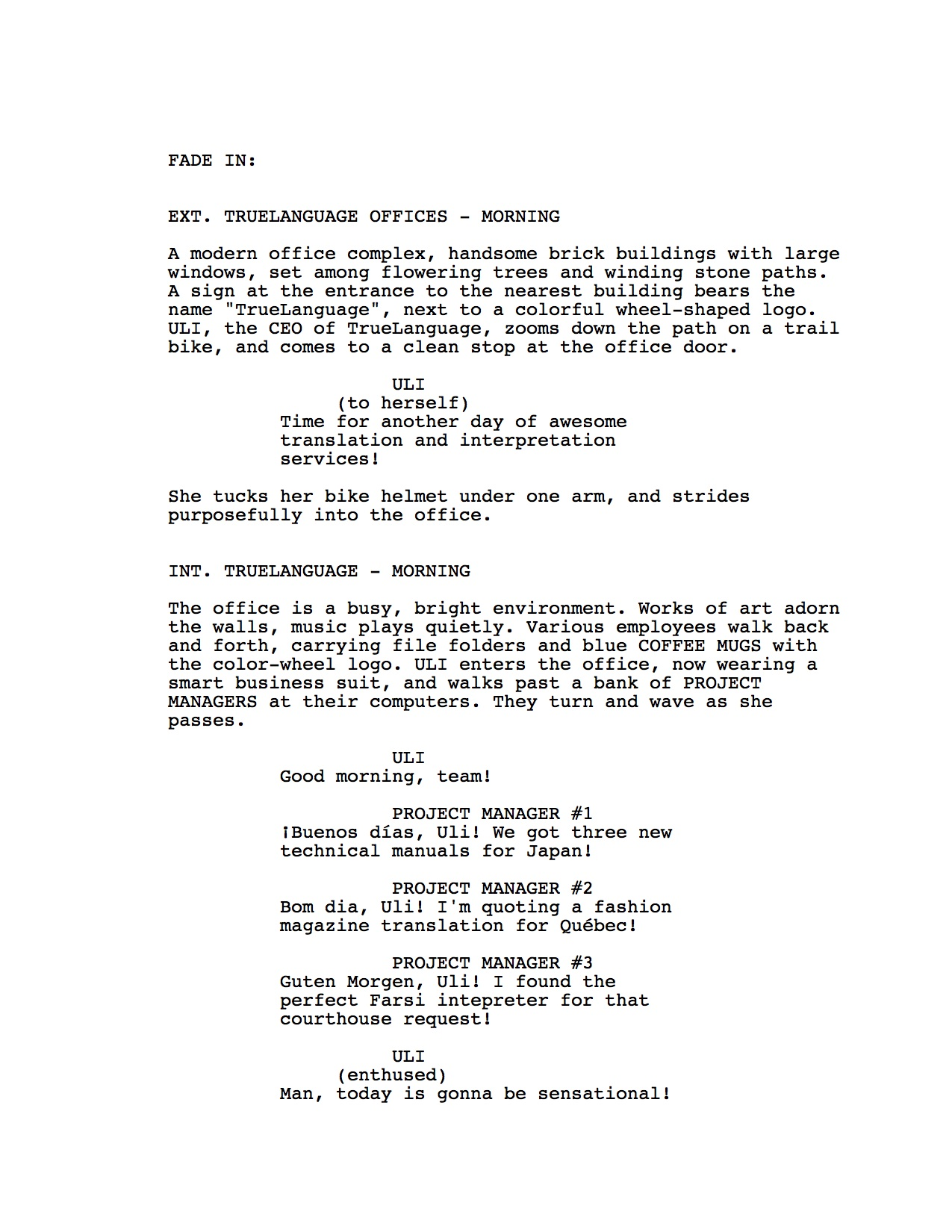 Movie script template ever seen a screenplay
